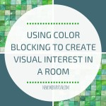 The same color blocking that is used in fashion can be used in interior design to create beautiful rooms!