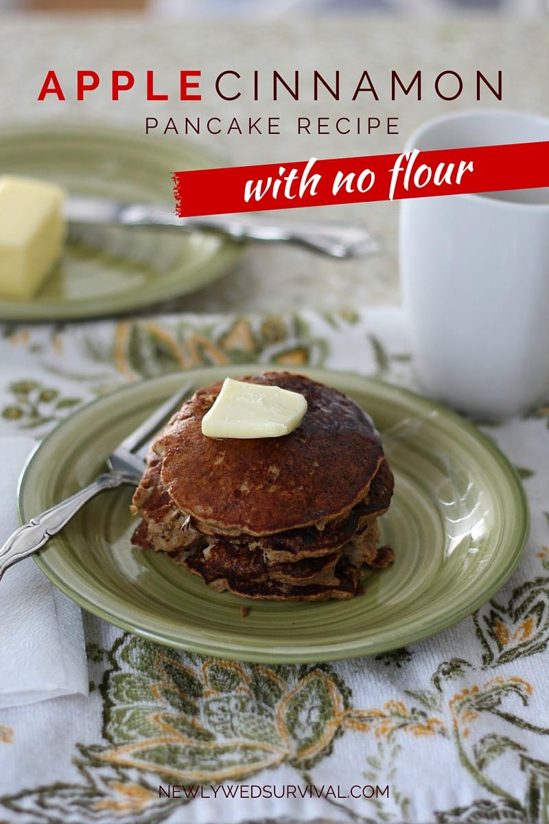 Apple Cinnamon Pancakes with no flour