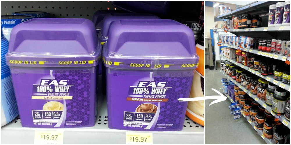 EAS 100% Whey Protein at Walmart