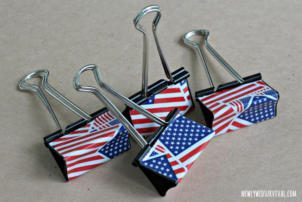 Finished patriotic food label holders