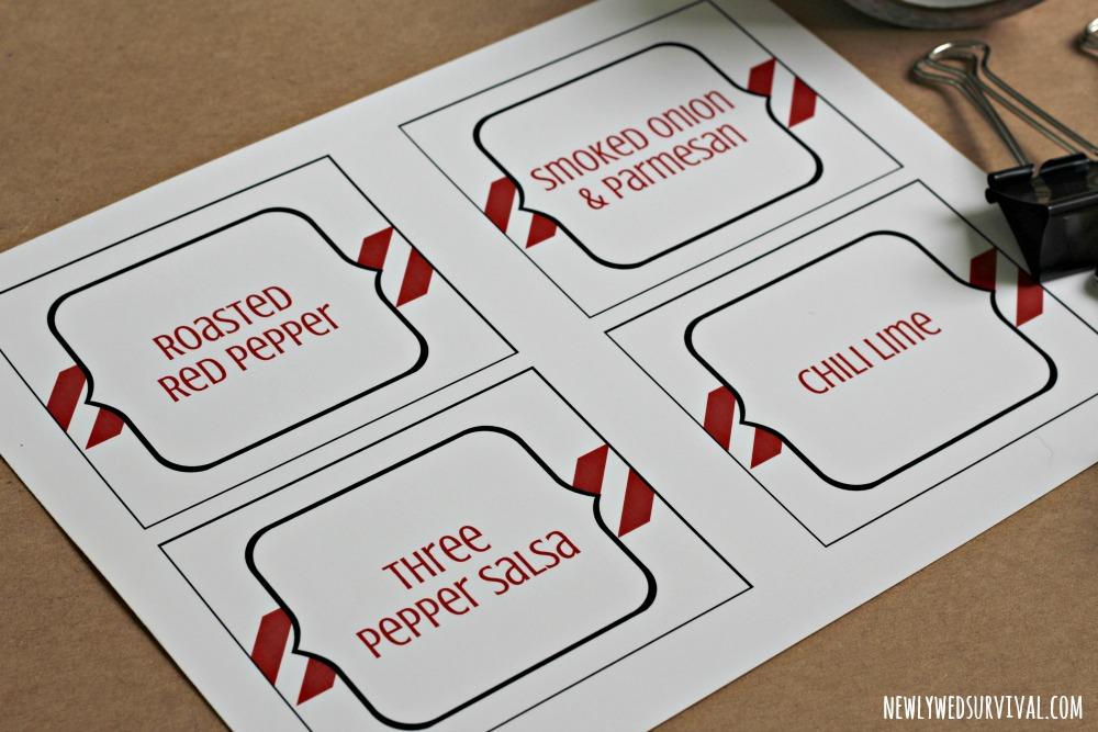 Free printable dip labels for patriotic parties