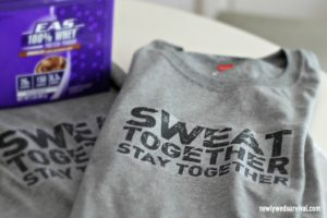 Sweat together stay together DIY shirts for couples