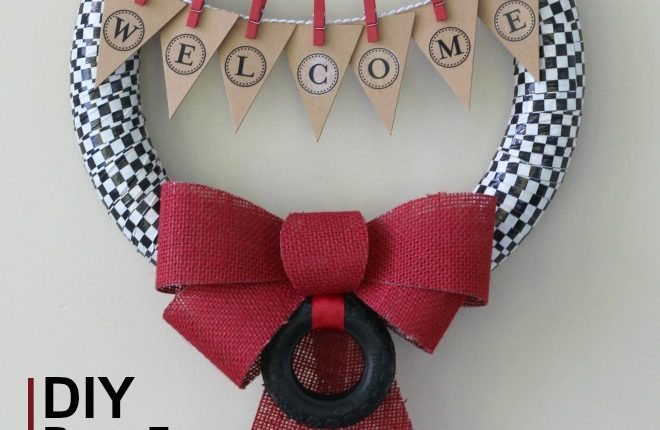 DIY Duct Tape Wreath for Racing Fans