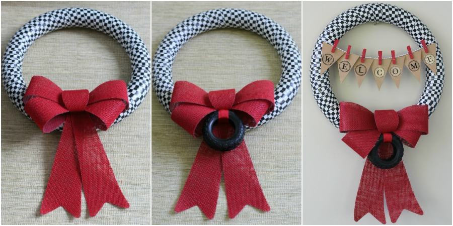 Race fan wreath variations