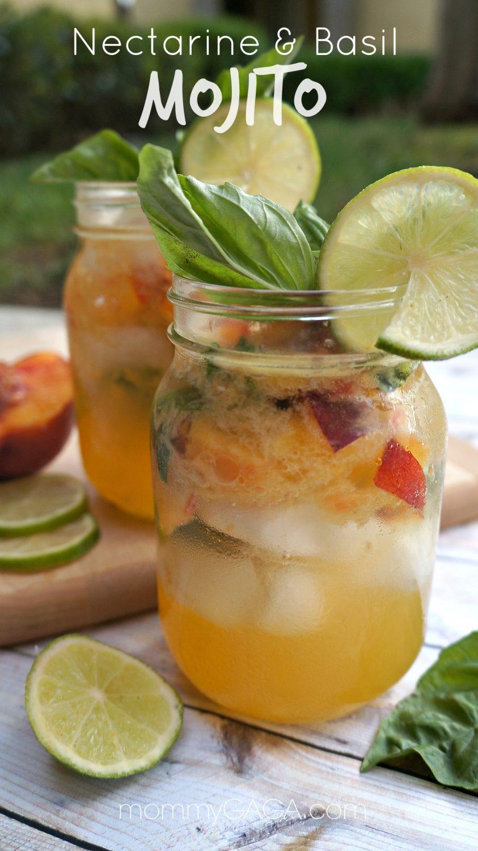 Nectarine & Basil Mojitos