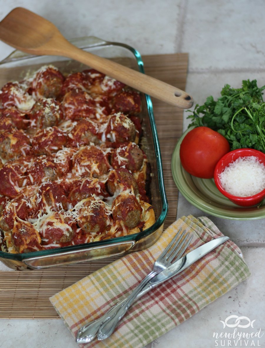Easy Dinner Meatball Sub Casserole Recipe Newlywed Survival
