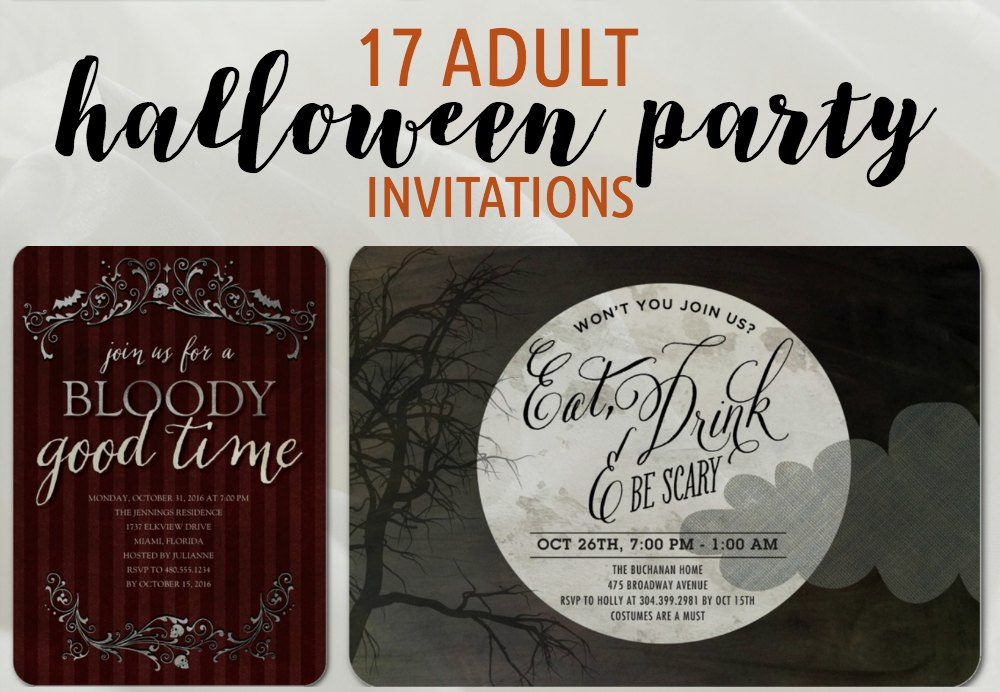 17 Adult Halloween Party Invitations Newlywed Survival