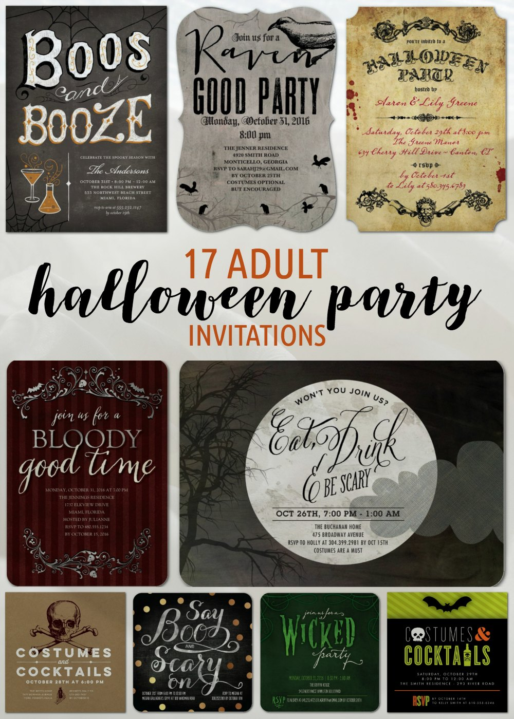 Halloween Party Ideas Invitations
