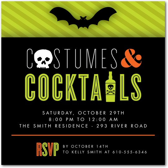Costumed Cocktails Invitations