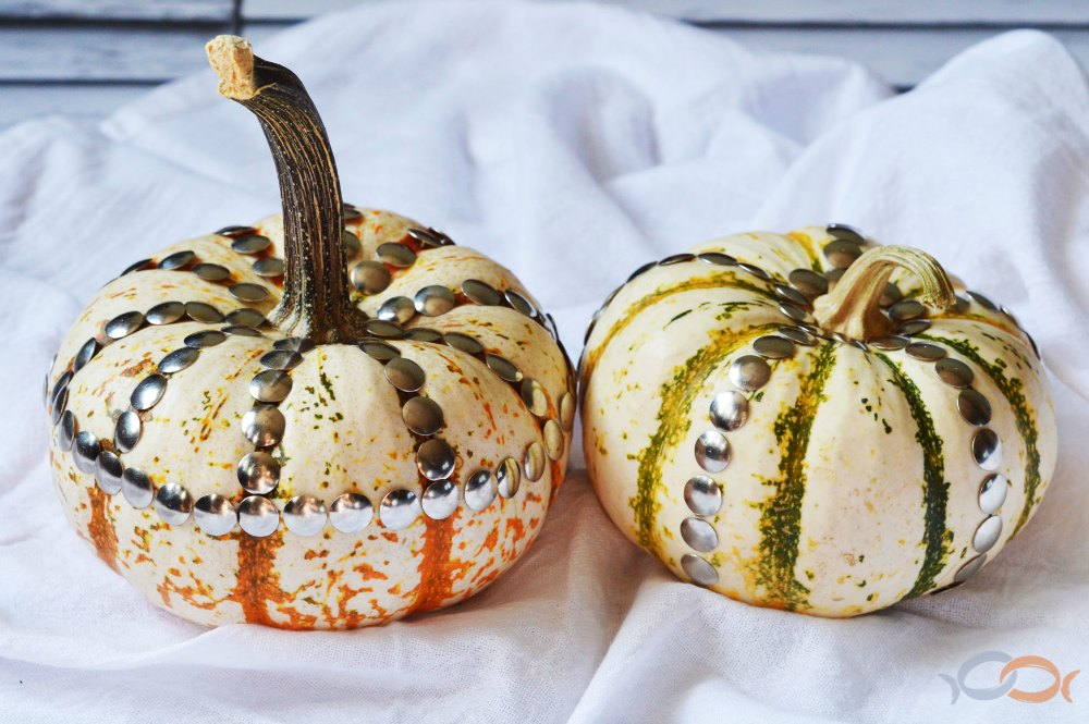 Easy DIY Upholstery Tack Pumpkins