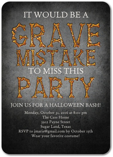Grave Mistake Invitations