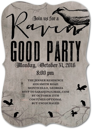 Raven Good Party Invitations