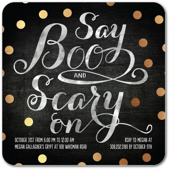 Scary On Invitations