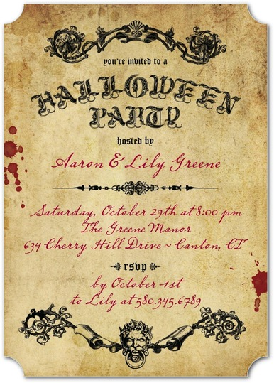 Scary Scroll Invitations