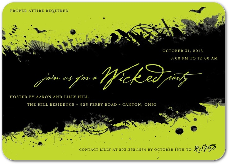 Wonderfully Wicked Invitations