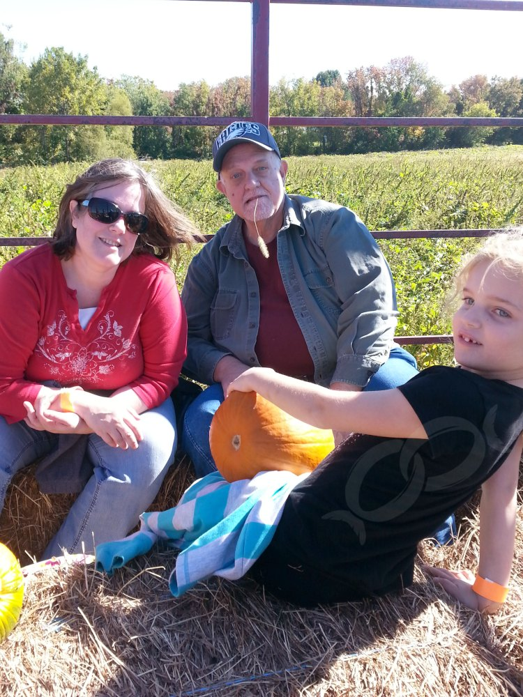 Hayride and pumpkin picking with my dad, sister and niece.