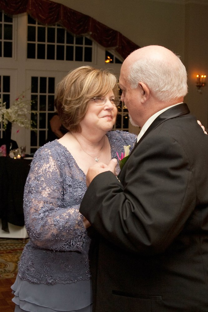 My parents dancing at our wedding.