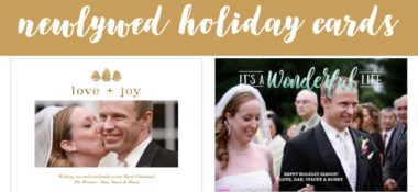 Newlywed Holiday Cards on Amazon