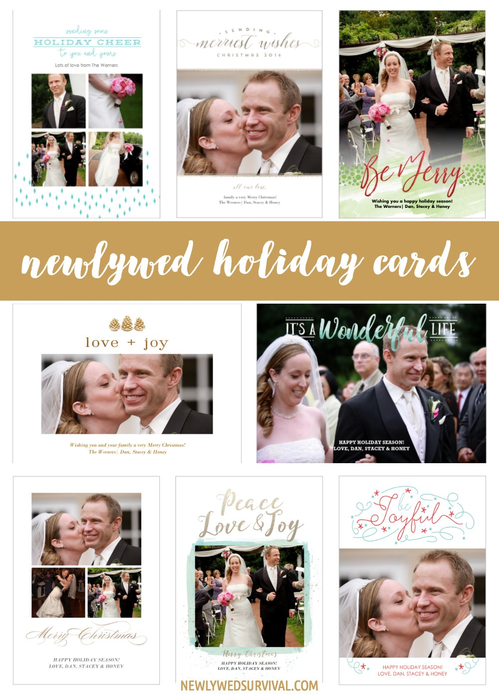 Newlywed Holiday Cards from Amazon
