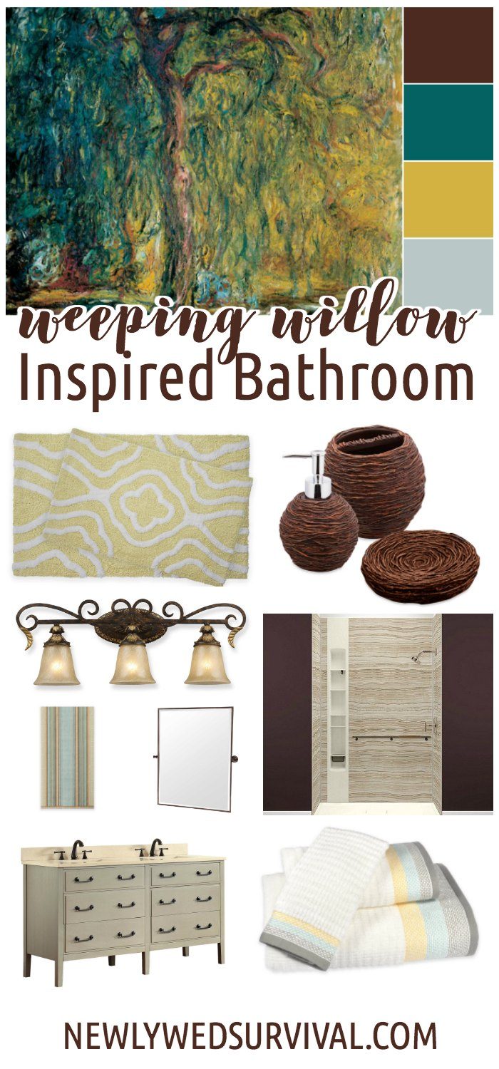 Weeping Willow Inspired Bathroom Mood Board
