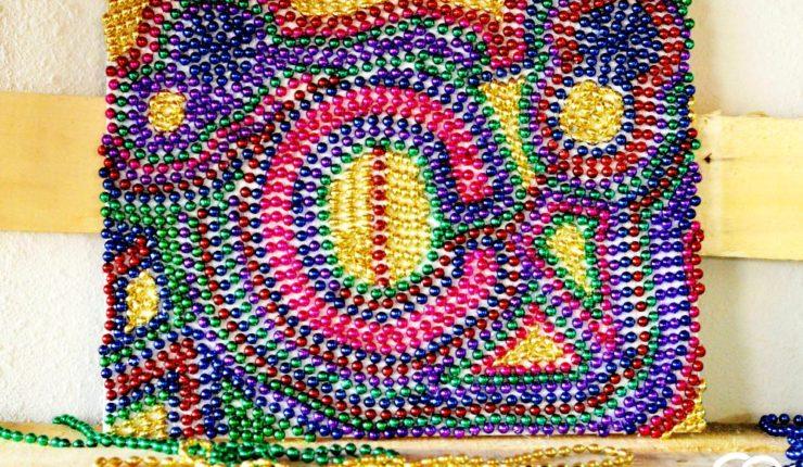 DIY Mardi Gras Monogram Canvas
