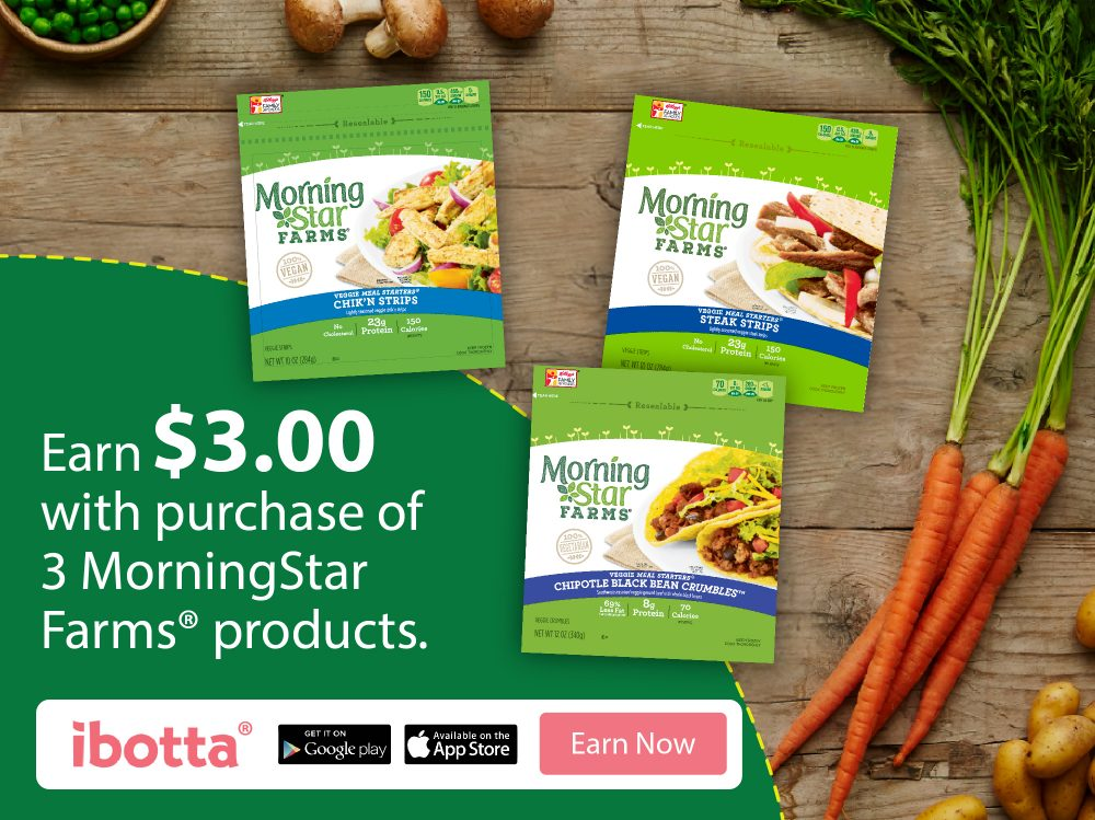 Get a $3 Ibotta rebate on MorningStar products #DailyVegolutions
