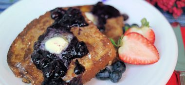 A Special Day Breakfast: Pecan French Toast & Blueberry Compote for 2