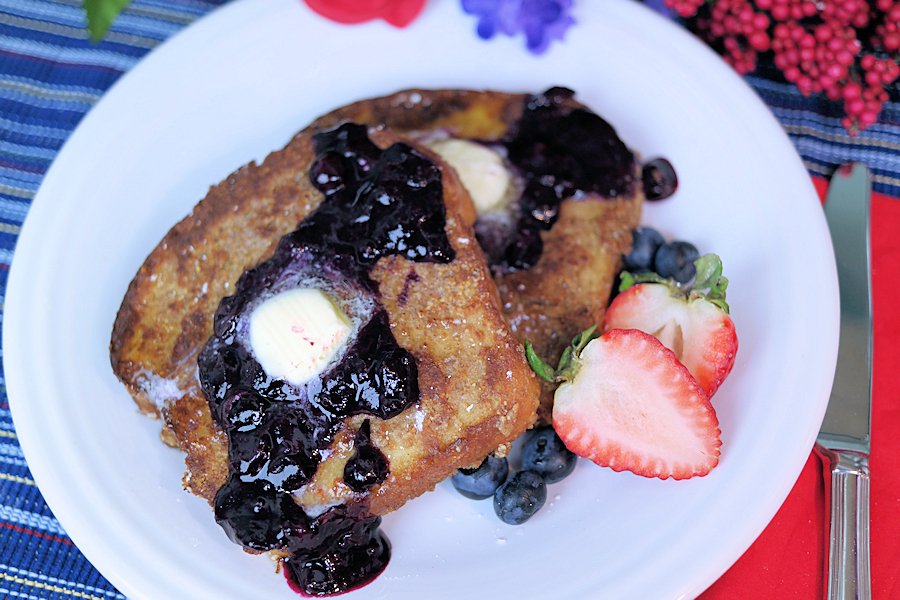 Pecan French Toast with Blueberry Compote Recipe