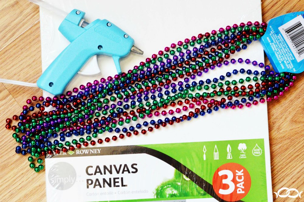 Supplies needed for Mardi Gras canvas