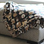 Easy DIY No-Sew Fleece Blanket without knots #TreatingWithNutrish