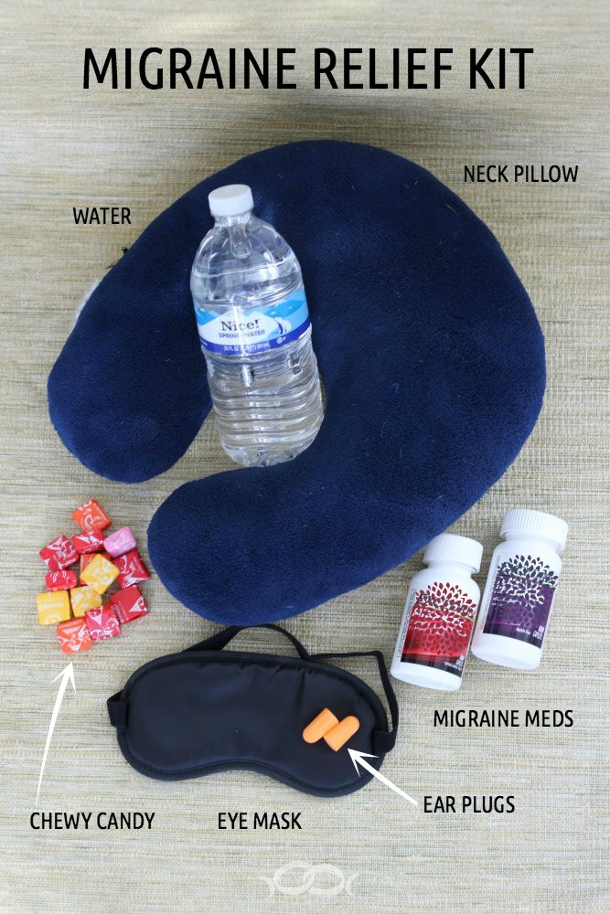 Migraine relief kit necessities