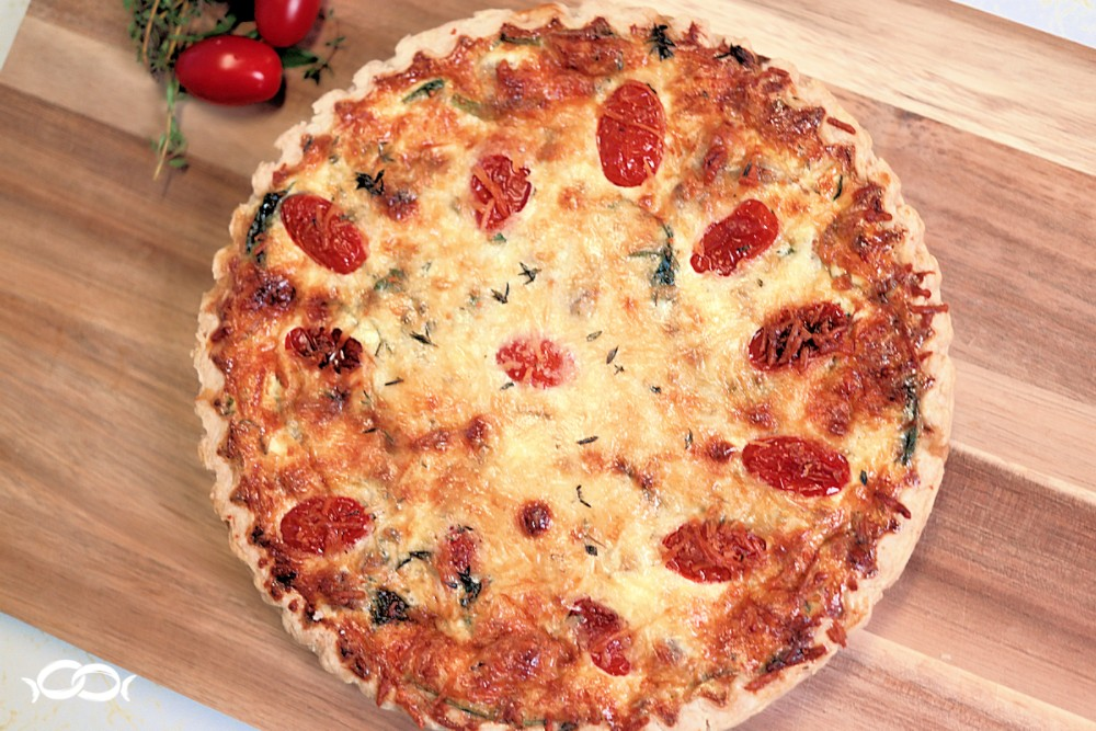 Italian sausage and spinach quiche