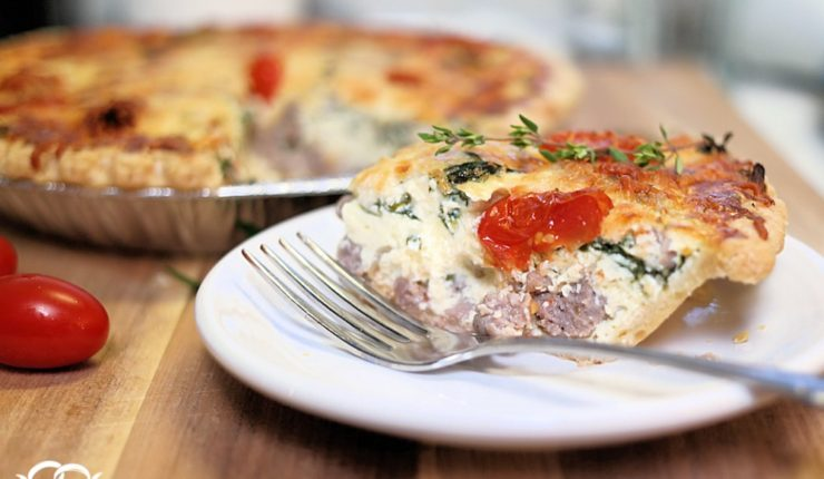 Shop, Chop & Cook Once/Eat Twice – Italian Sausage & Spinach Quiche