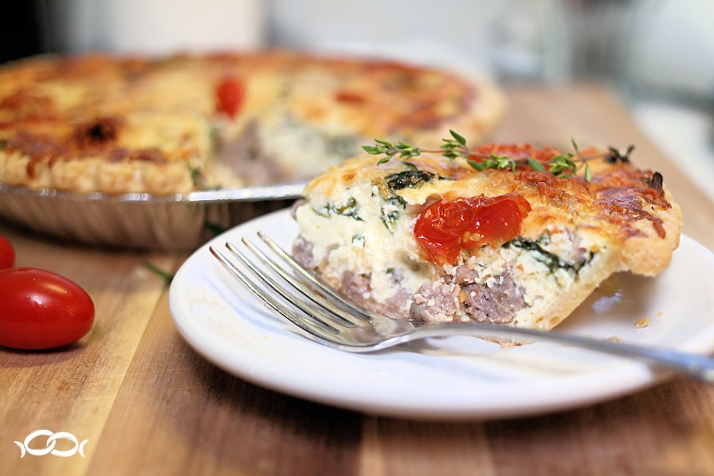 Italian Sausage and Spinach Quiche Recipe