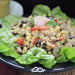 Sweet Corn, Shrimp & Bean Quinoa Salad with a Dijon Vinaigrette