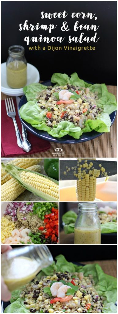 Sweet Corn, Shrimp and Bean Quinoa Salad with a Dijon Vinaigrette