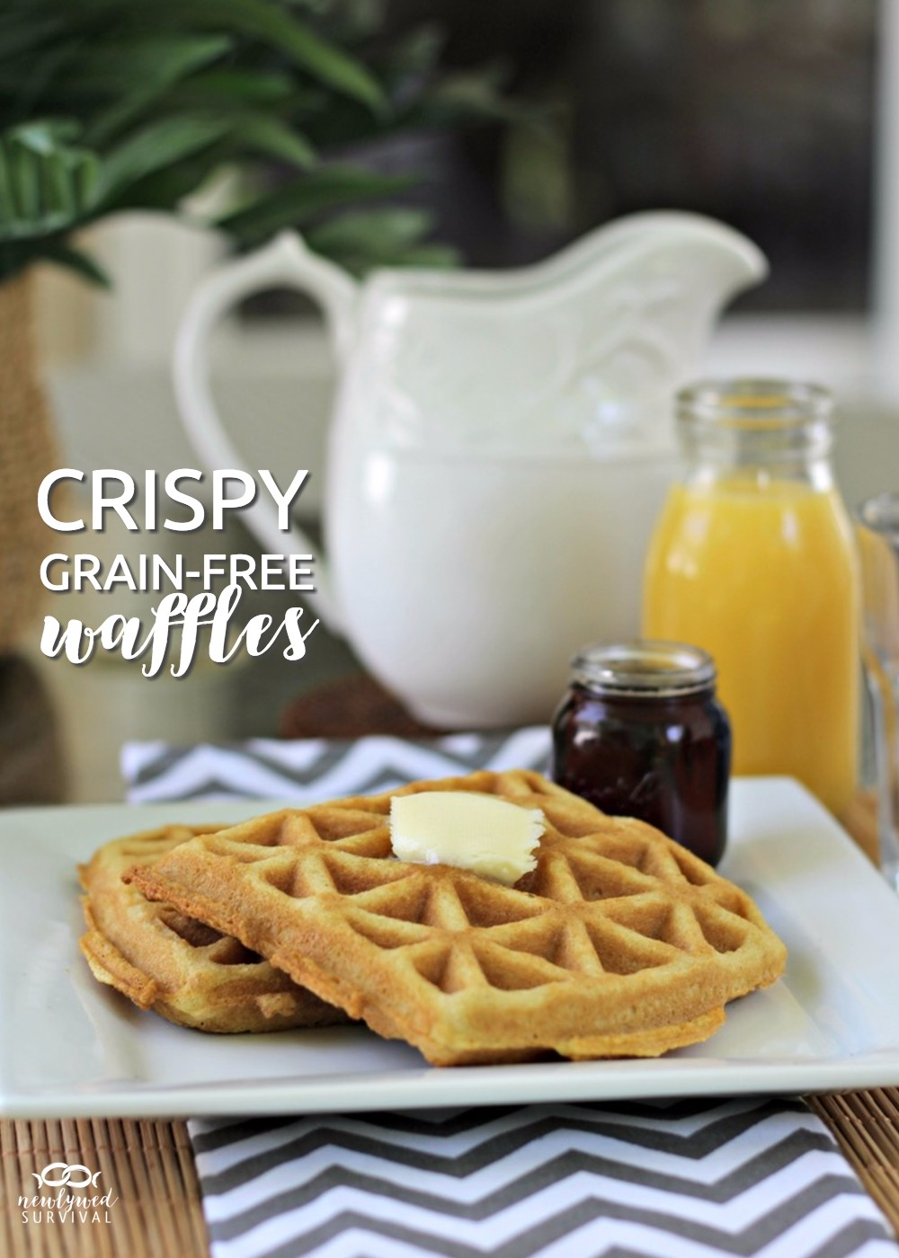 These look so good!! Crispy Grain-Free Waffle Recipe & Enjoying a Summer Morning with #DunkinCreamers