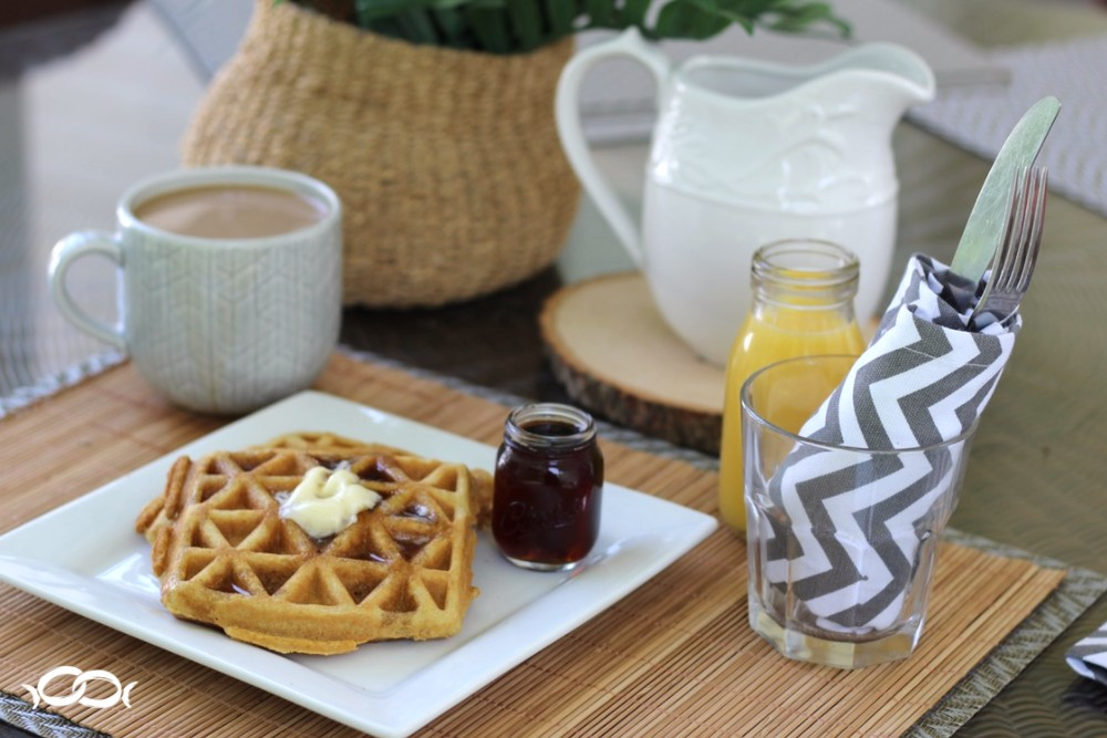 Enjoy these waffles with your coffee and Dunkin' Donuts® Coffee Creamers