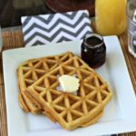Grain-Free Waffles with Dunkin' Donuts® Caramel Creamer