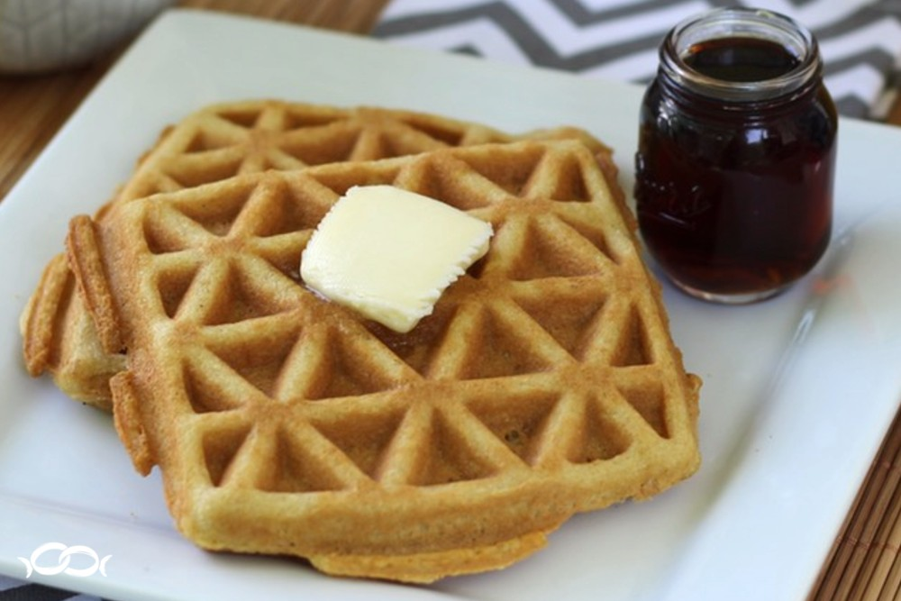 Look how crispy these gluten-free/grain-free waffles come out