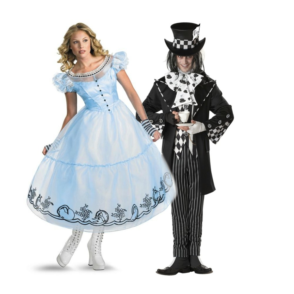 Alice in Wonderland couple costume alice and mad hatter