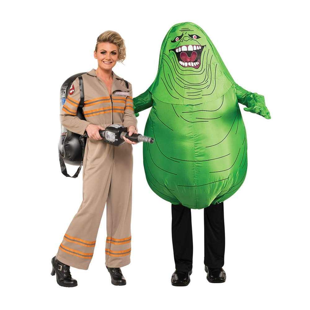 Ghostbusters couple costumes Ghostbuster and Slimer