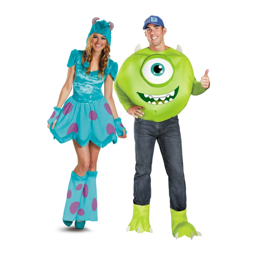 Monsters University couple costumes Mike and Sulley