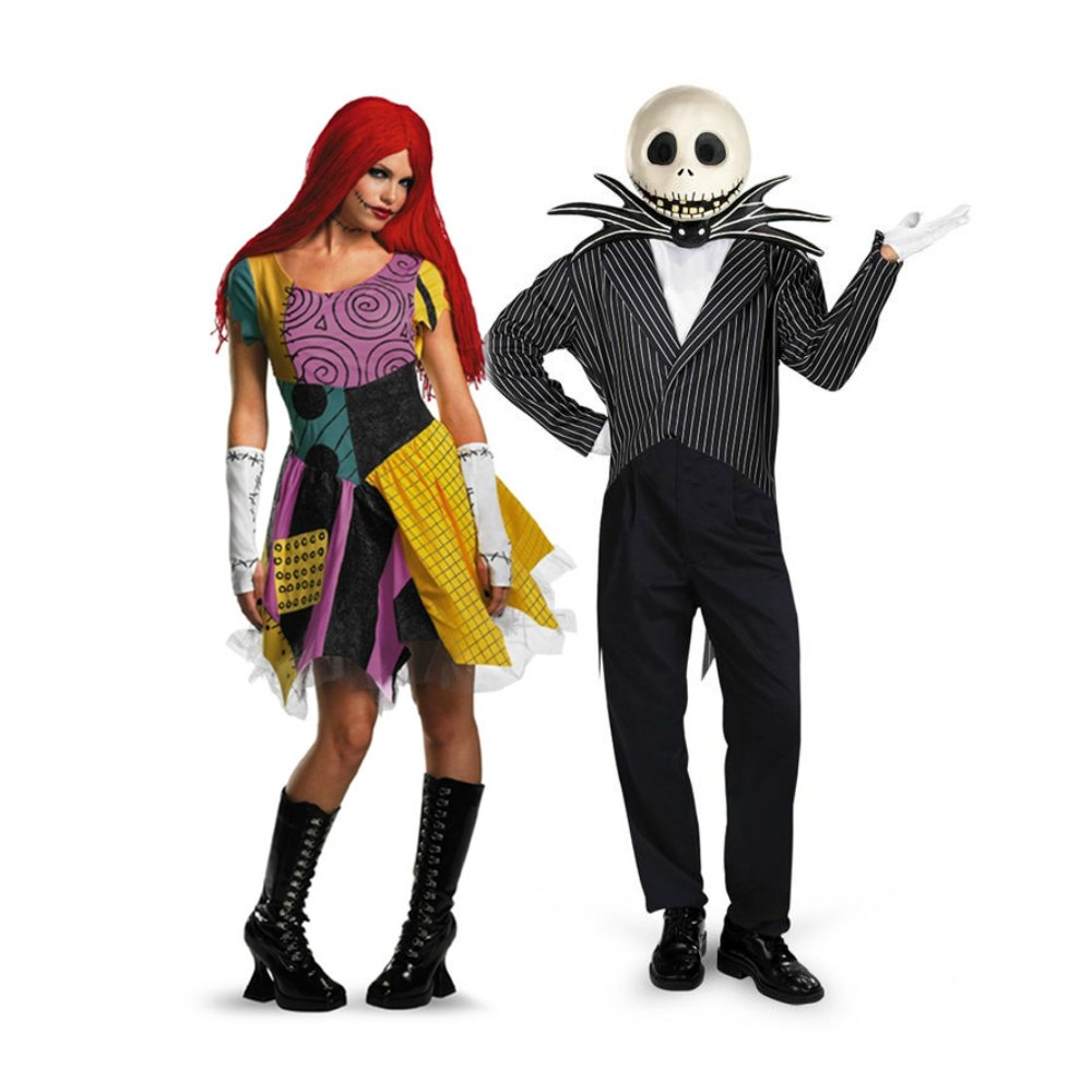 Nightmare Before Christmas couples costumes Sally and Jack Skellington