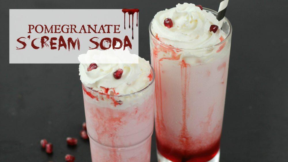 Pomegranate Cream Soda - A fun Halloween Mocktail Recipe