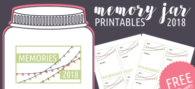 2018 Memory Jar Printables for Your New Year's Eve Date Night In