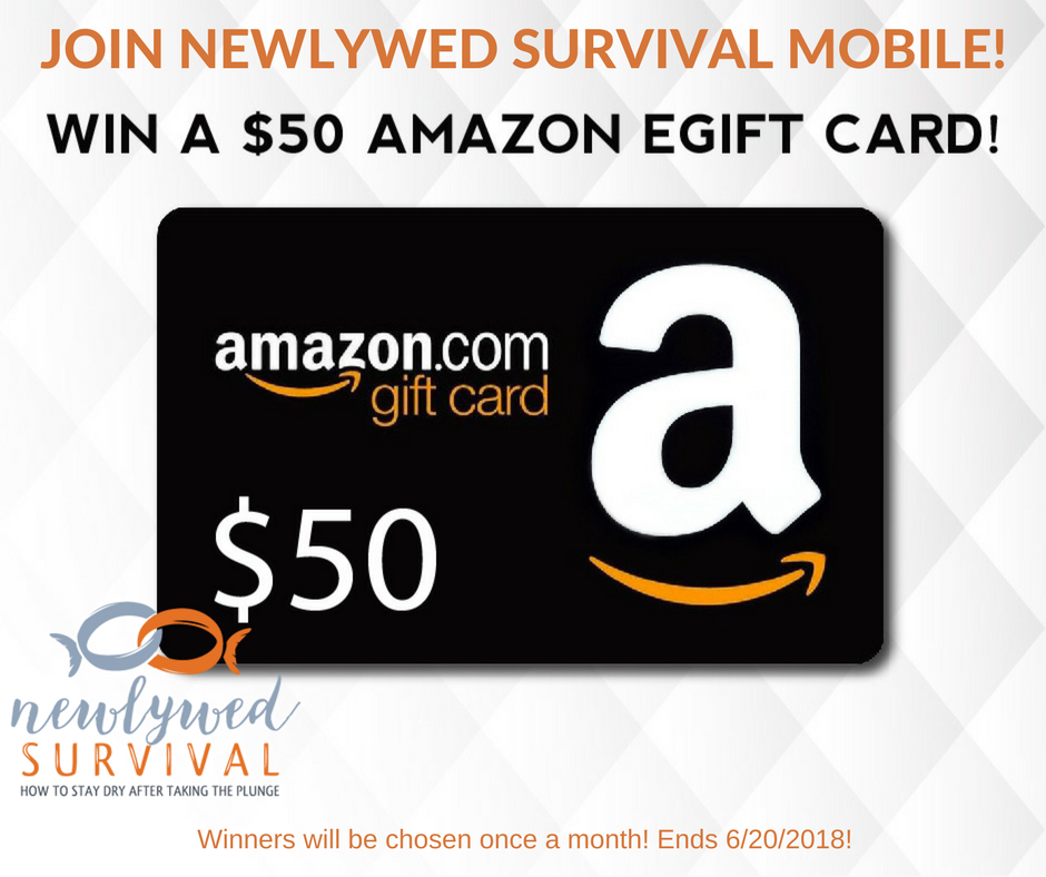$50 Amazon gift card giveaway - 1 winner chosen each month through June 2018!