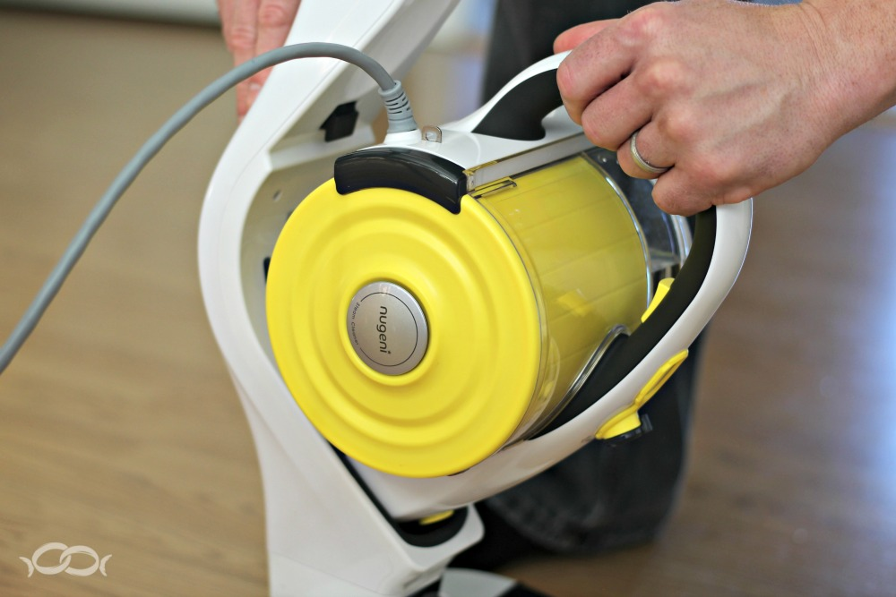Nugeni STEVA+ detachable steamer converts easily to a handheld steamer