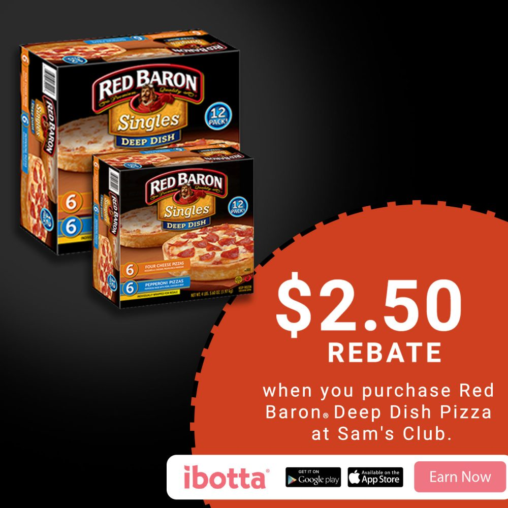 $2.50 Rebate on Red Baron at Sam's Club