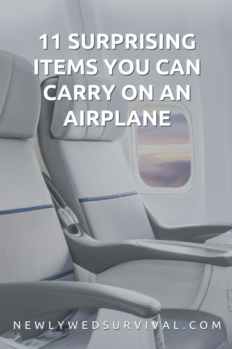 11 Surprising Items You Can Carry On an Airplane